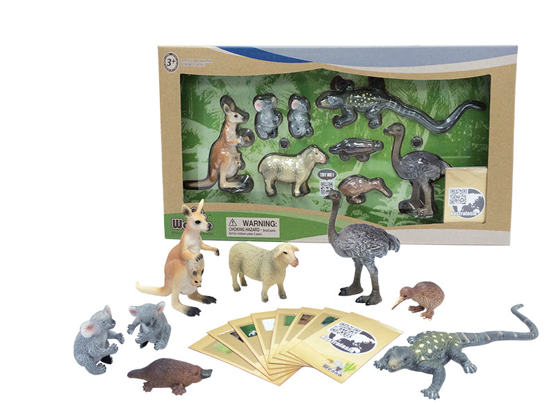 Wenno Australian Animals with Kiwi - 8 PCS