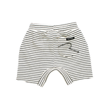 Baby Cream/Black Stripe Shorts