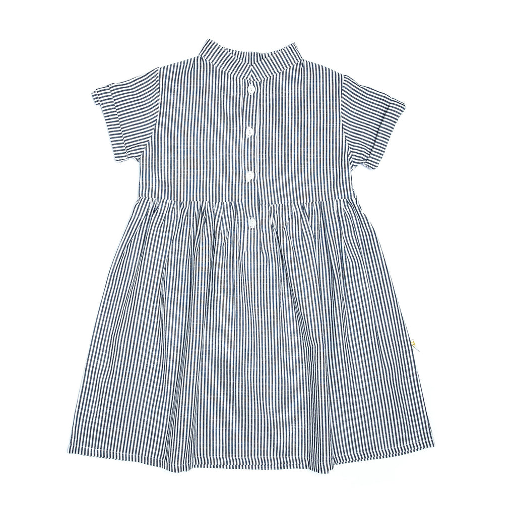 Isla Dress - Blue Stripe