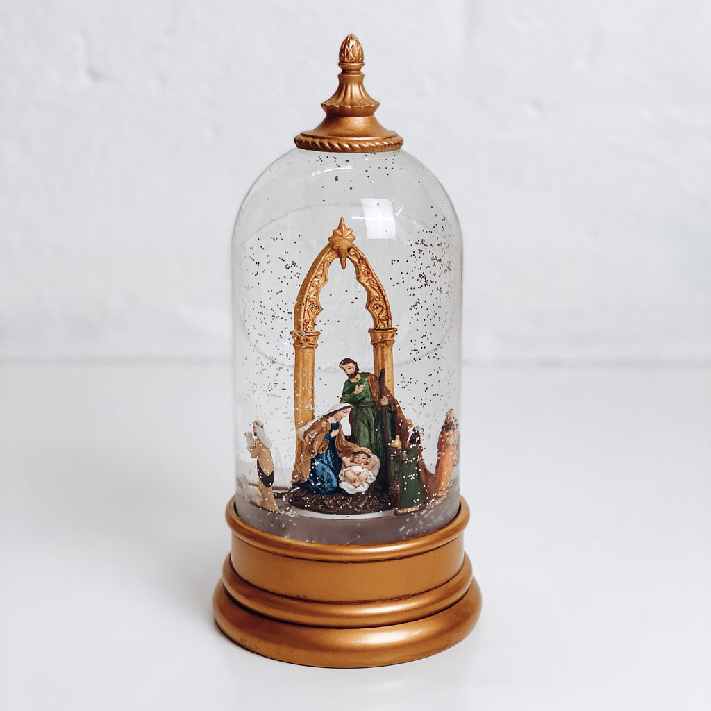 Gold Nativity Dome Lantern