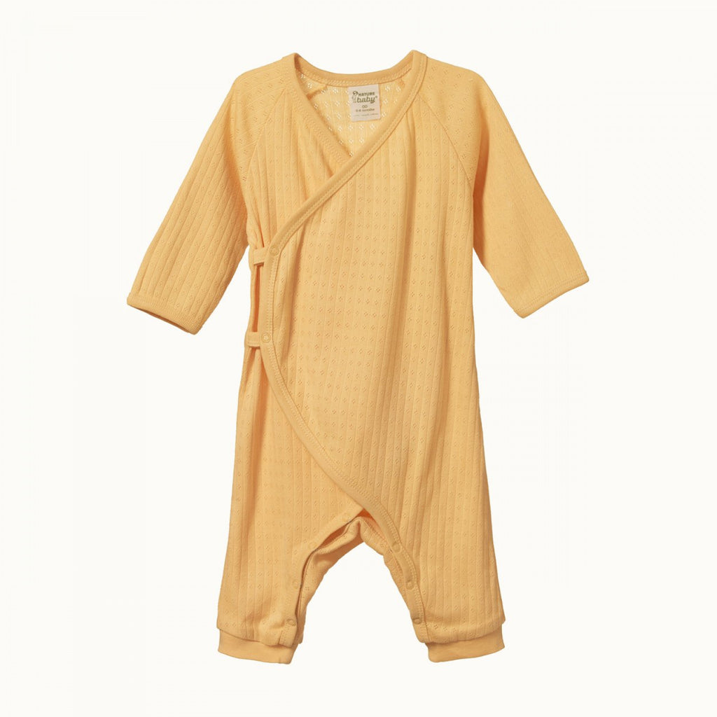 Pointelle Kimono Stretch and Grow - Lemon