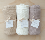 Heirloom Knit Blanket - Milk