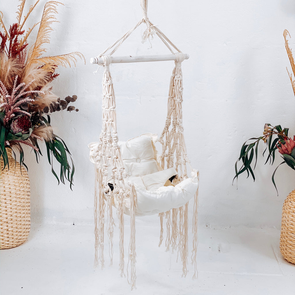Baby Macrame Swing With Harness
