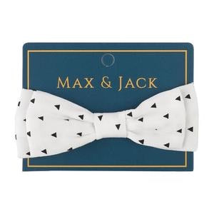 Arrow Print Bow Tie - White