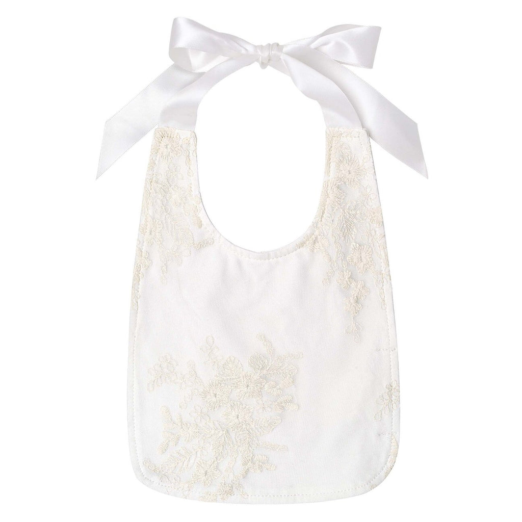 Madison Christening Bib - Beige