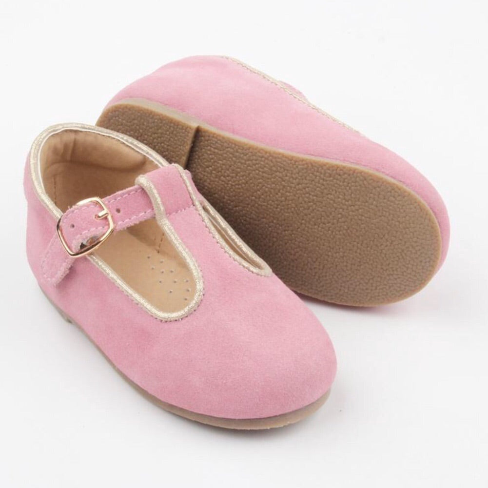 Bronte Tbar Mary Janes (Hard Sole) - Pink