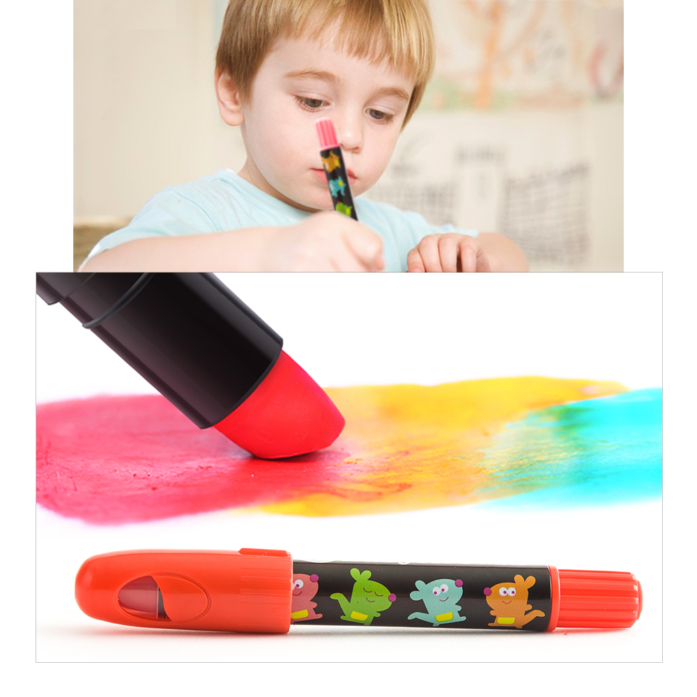 Silky Washable Crayons - 6 Colours
