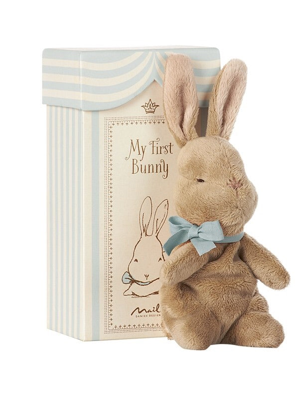 Maileg My First Bunny In A Box - Blue