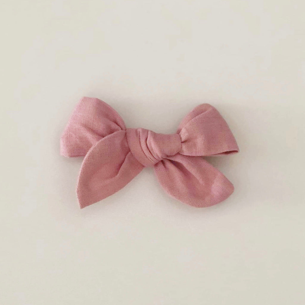 Luxe Linen Clip - Dusty Rose