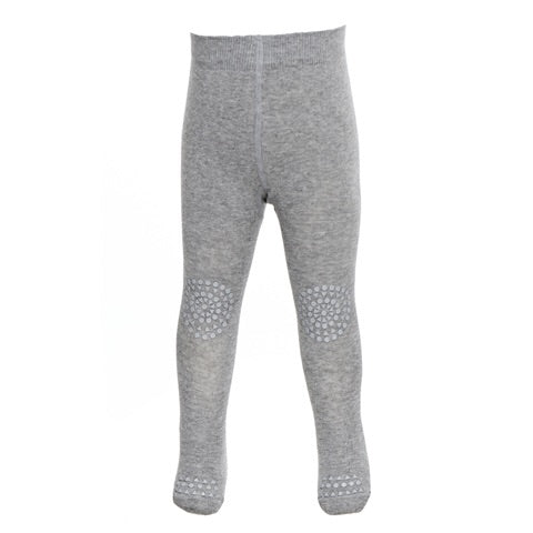 GOBABYGO Crawling Tights - Light Grey Melange
