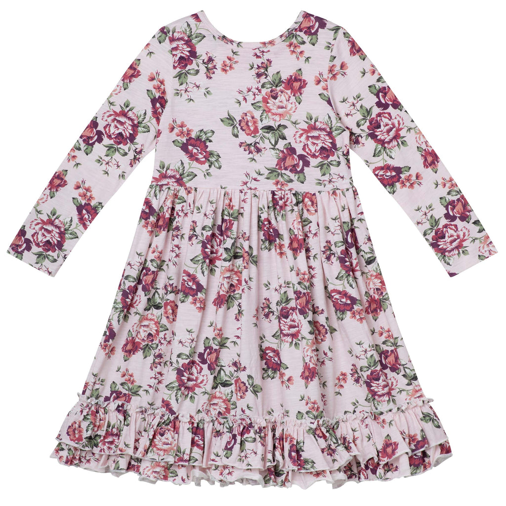 Pearl Floral Swing Dress - Pink