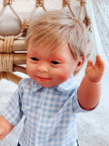 Baby With Down Syndrome Doll - Boy Blue