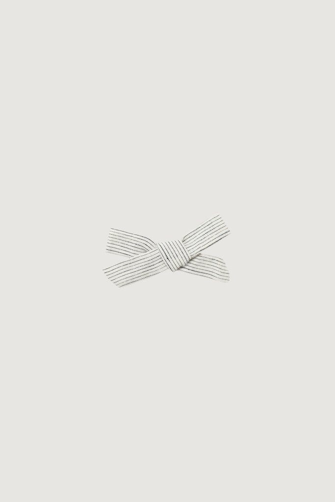 Hair Bow - Stripe Linen