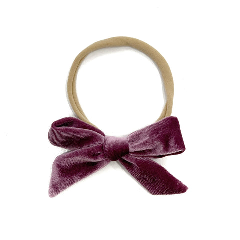 Luxe Velvet Headband - Grape