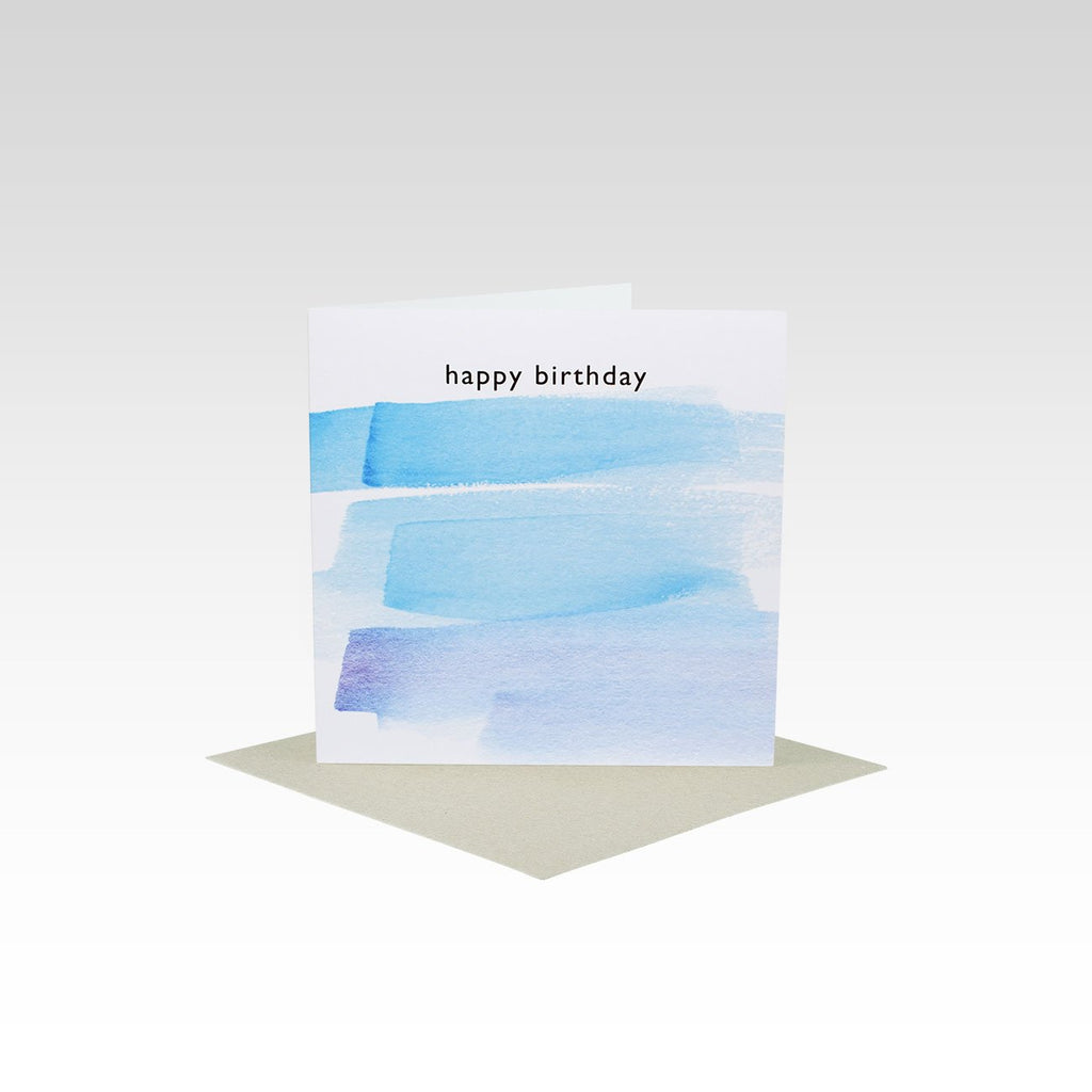 Blue Happy Birthday Mini Card