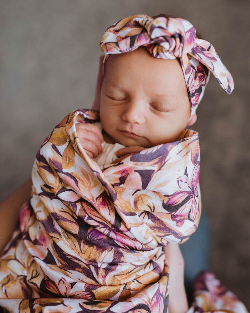 Baby Wrap/Blanket With Headband - Leilani