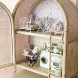 Rattan Dolls House Cabinet