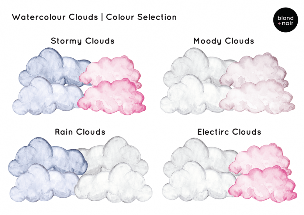Dreamland Clouds In Watercolour - Half Pack
