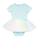 Baby Short Sleeve Circus Dress - Unicorn Clouds