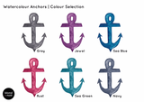 Anchors In Watercolour