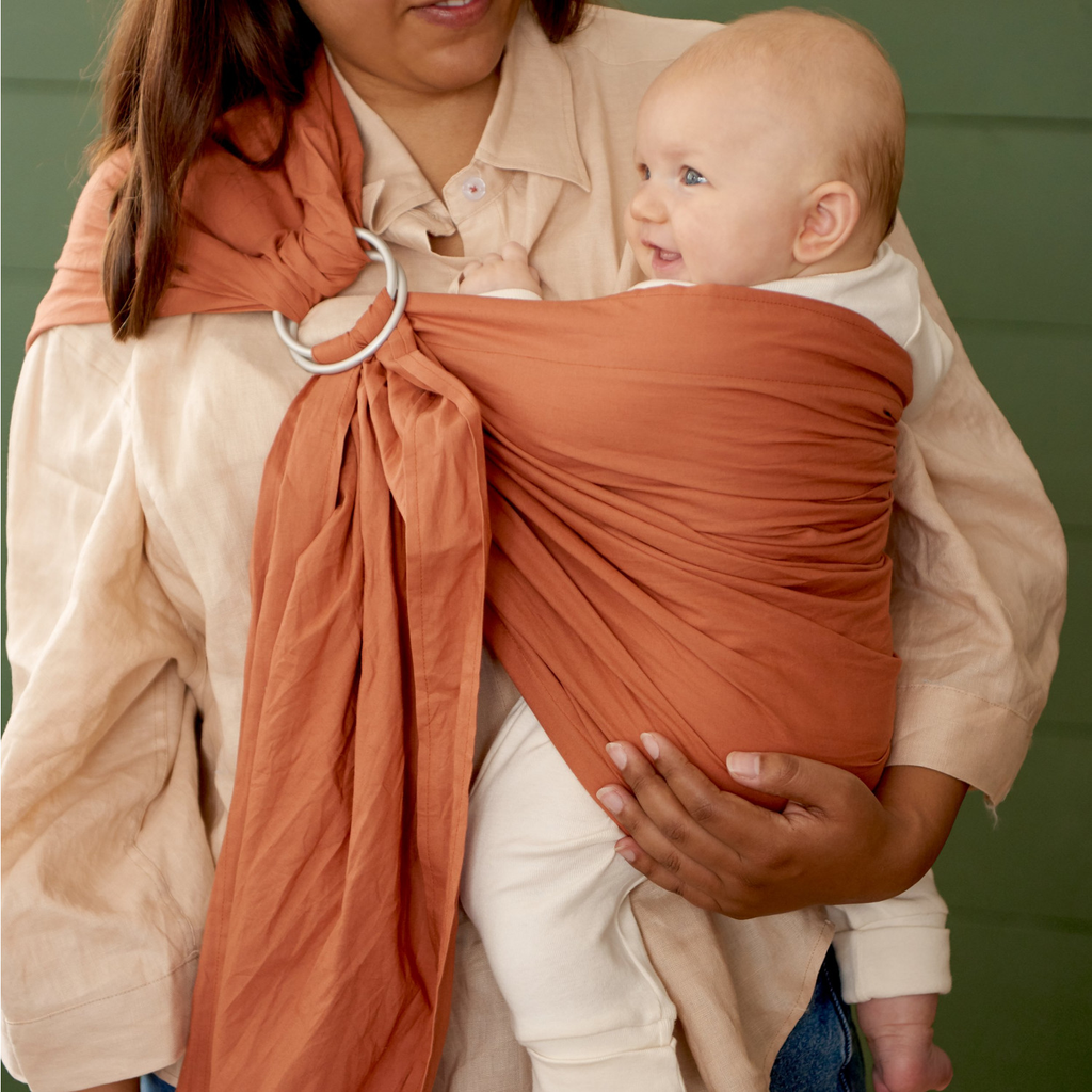 Organic Baby Ring Sling - Copper