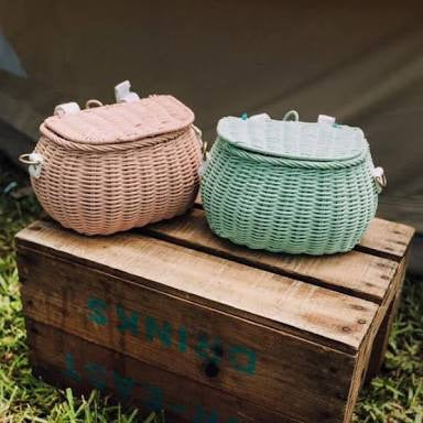 Mini Chari Basket - Mint