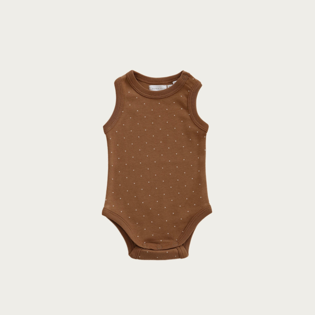 Singlet Bodysuit - Tiny Dots
