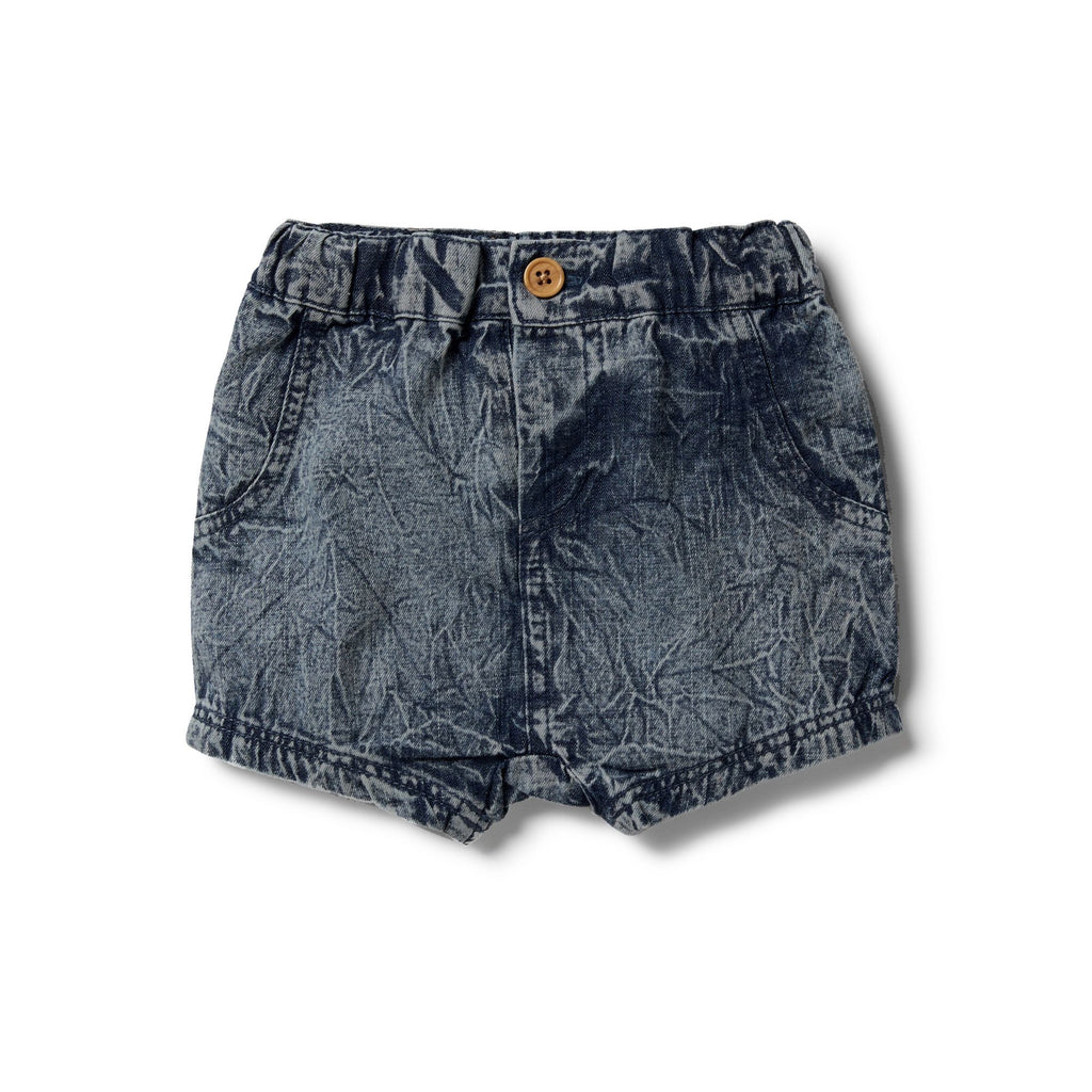 Slouch Shorts - Denim