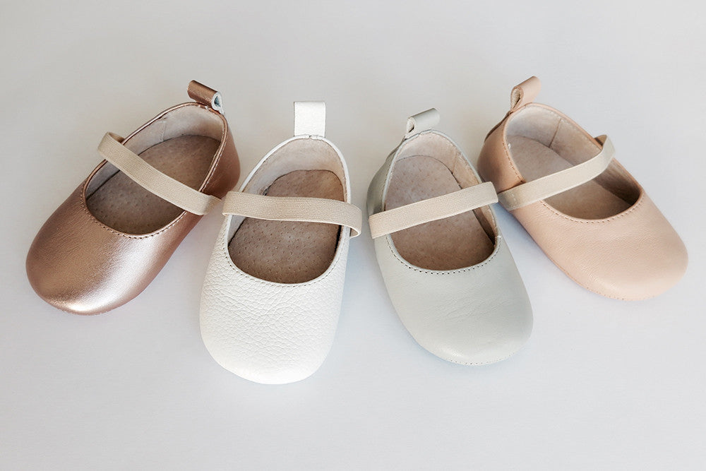 Ballet Leather Shoes - White