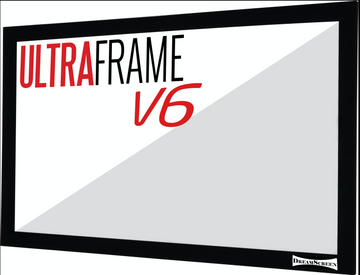 Dreamscreen - Acoustic transparant ultra weave V6 - incl velvet frame - 16:9 - Gain 0.9 in demo in de zaak