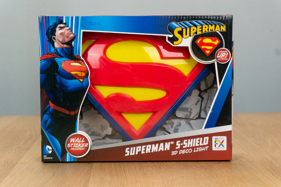 3D Deco Light - Superman S-Shield - Wandlamp