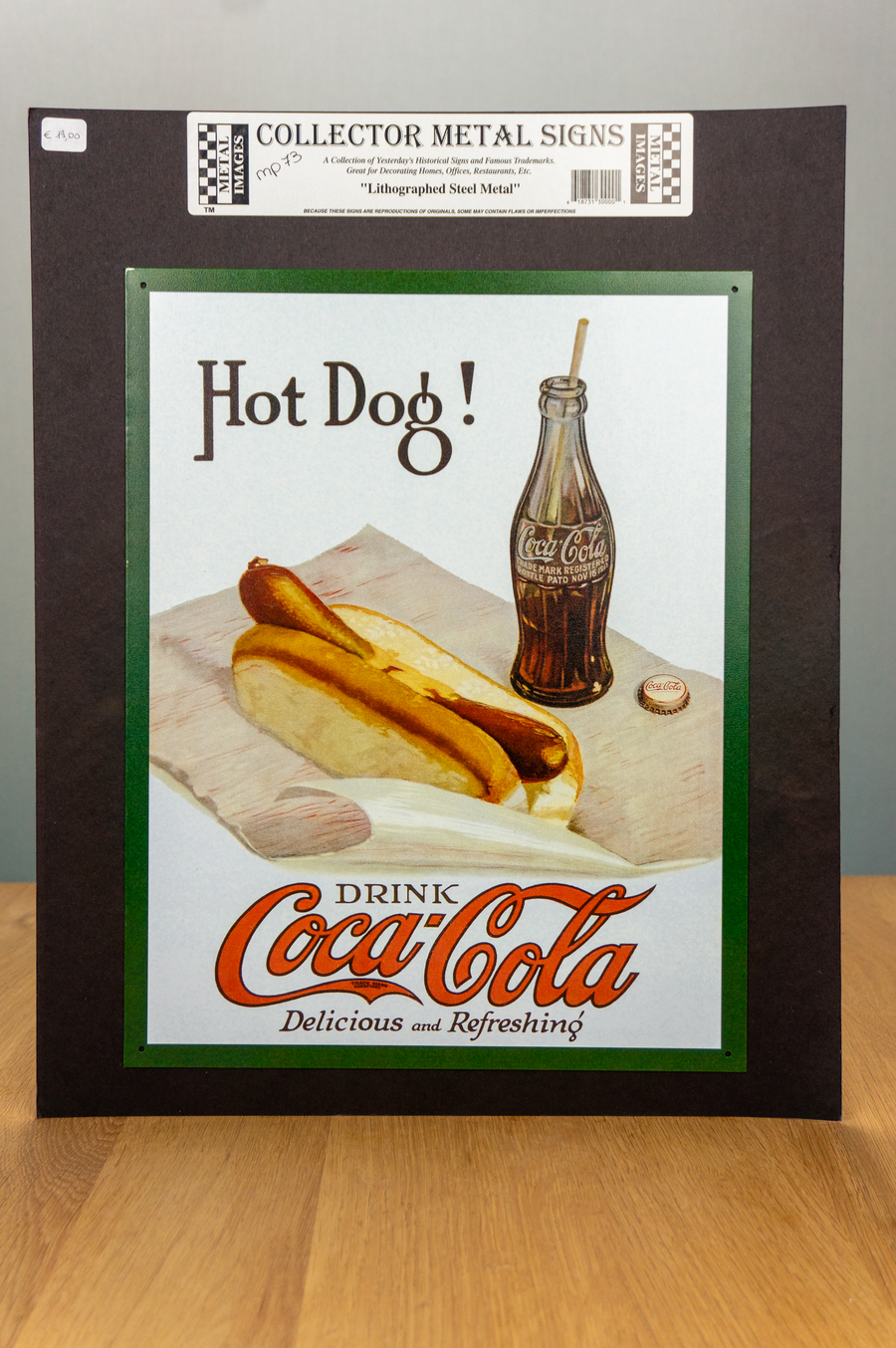 Metal Sign - Coca Cola - Hot Dog!
