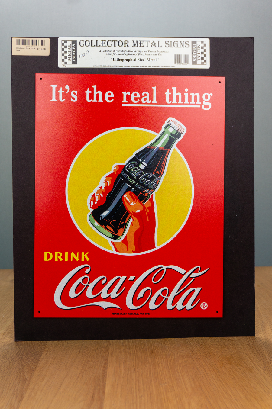 Metal Sign - Coca Cola - It's the real thing