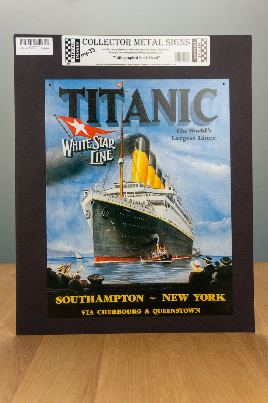 Metal Sign - Titanic - White Star Line