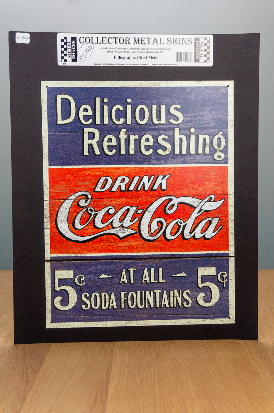 Metal Sign - Coca Cola - Delicious refreshing