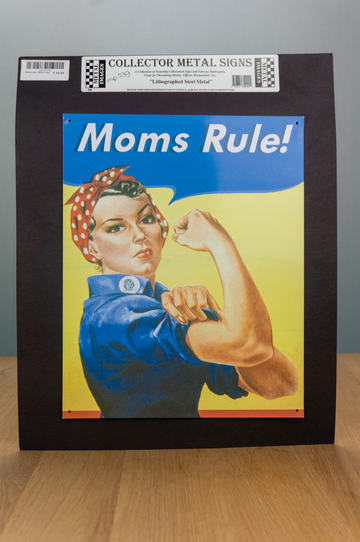 Metal Sign - Moms Rule