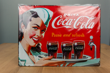 Metal Sign - Coca Cola - Pause and fresh