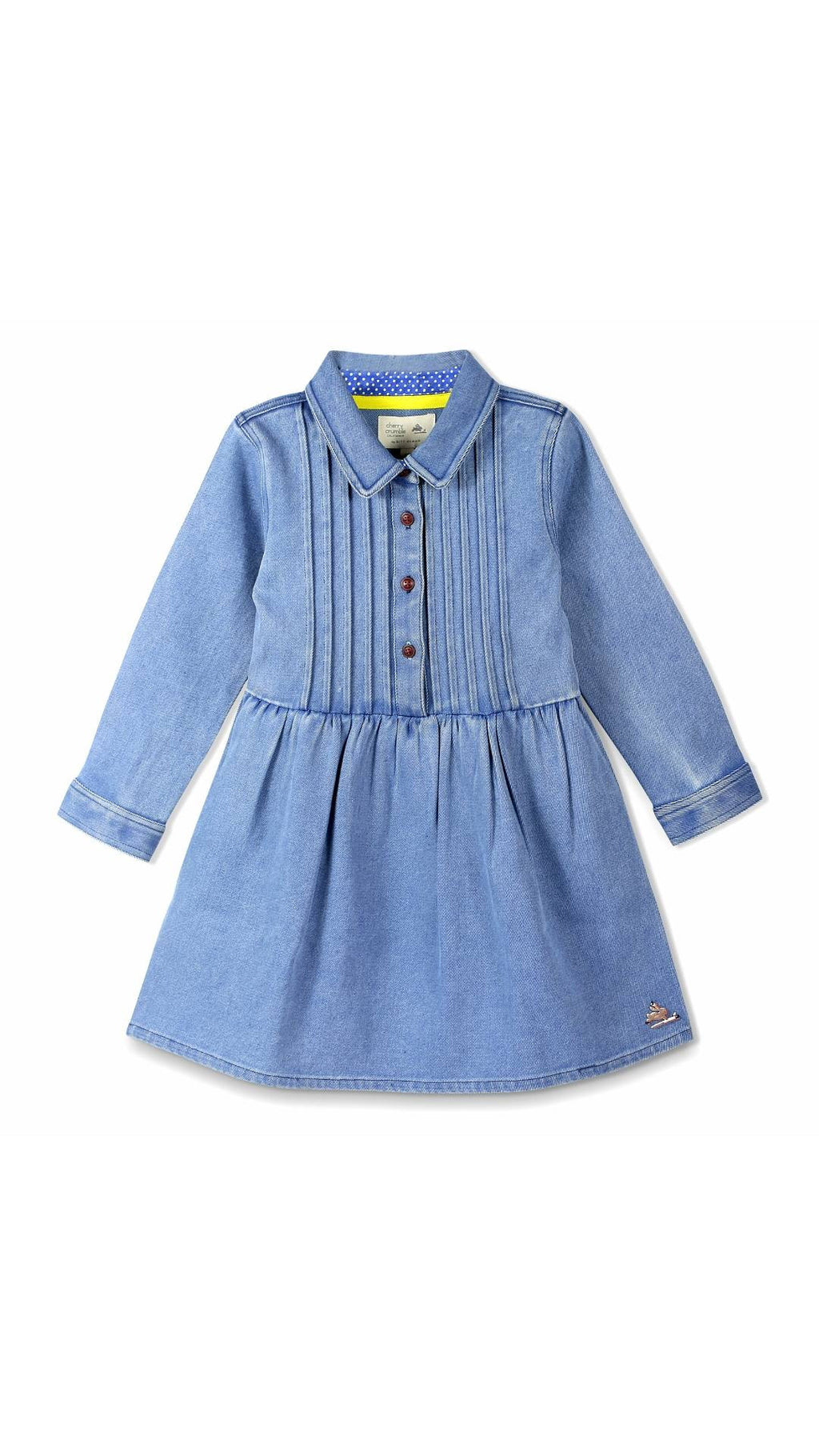 Cherry Crumble California Blue Chest Pleated Dress