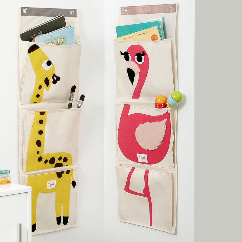 3 Sprouts Yellow Giraffe Wall Organizer