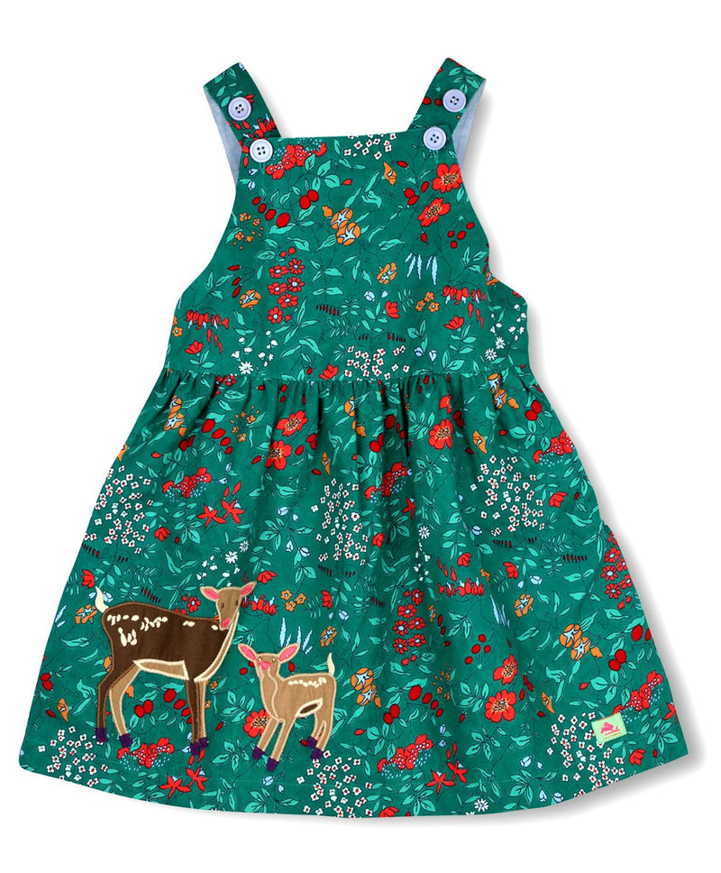 Cherry Crumble California Green A Line Floral Dress