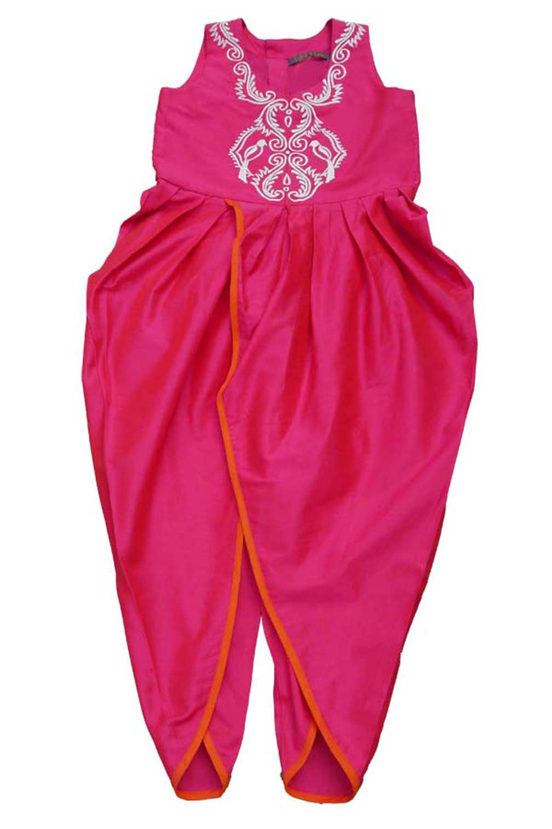 Hot Pink Dhoti Pant Jumpsuit from Nee & Oink