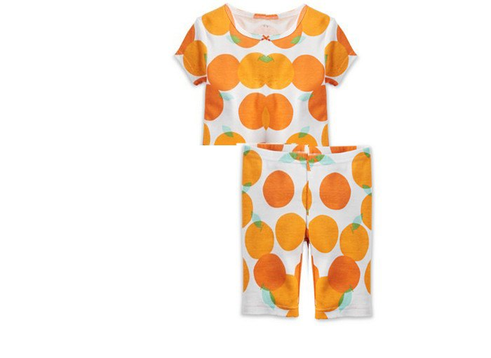 Orange Pajama Set