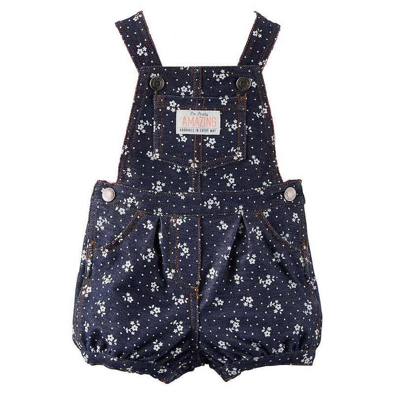 Short-Sleeve Top & Shortalls - Floral