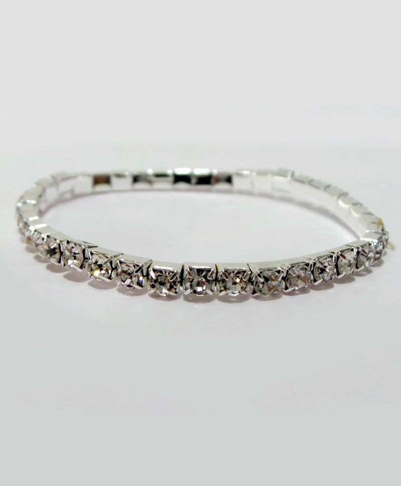 Aayera's Nest Silver Diamond Wristband