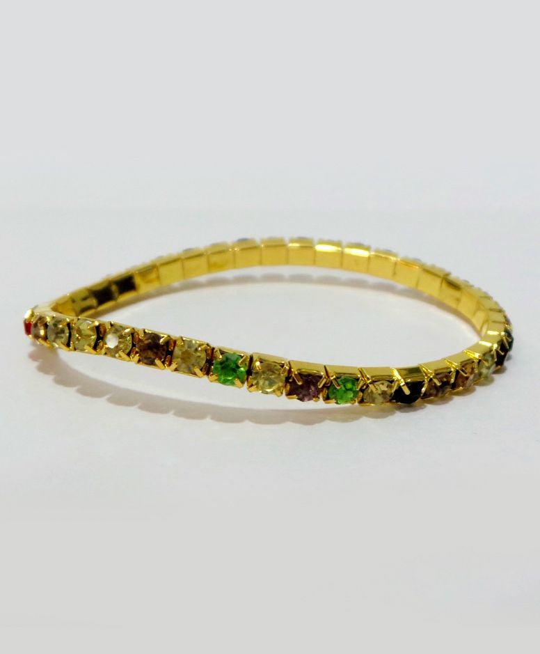 Aayera's Nest Multicolor Diamond Wristband