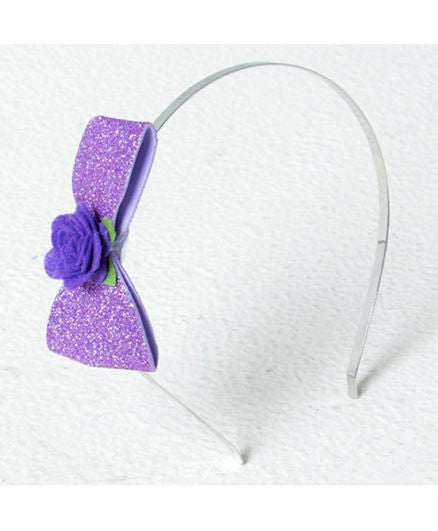 Aayera's Nest Sofia Glitter Purple Bow Hairband