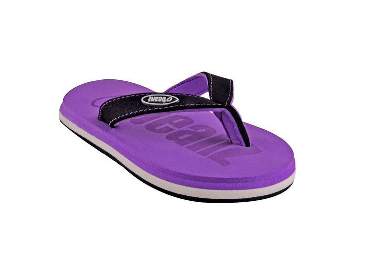 Beanz Carlin Purple and Black Flip Flops