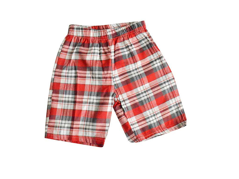 Red Checks Shorts