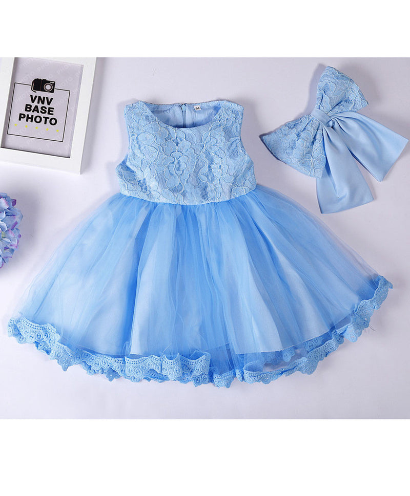 Aww Hunnie Blue Bell Silhouette Dress