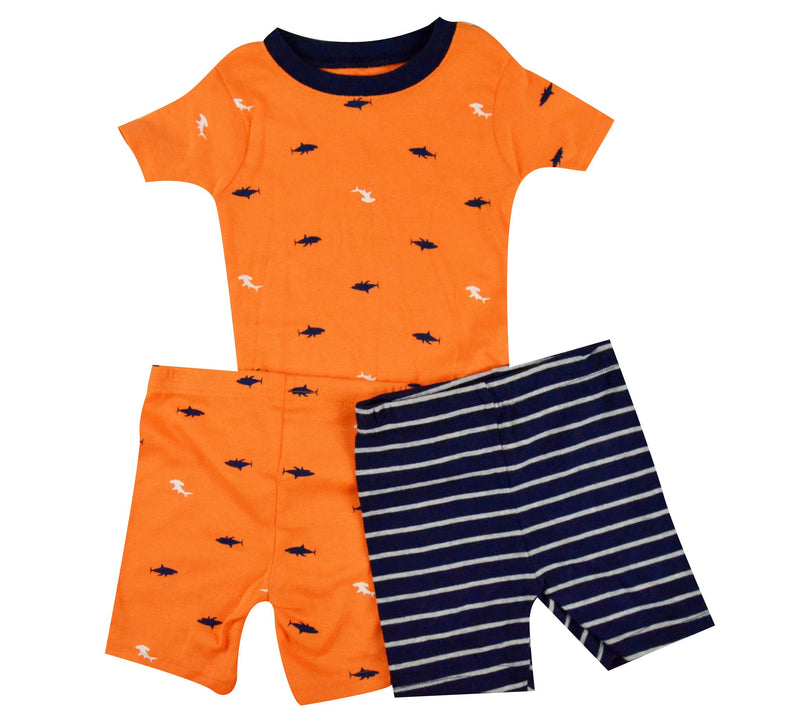 Carters Orange T and 2 shorts set